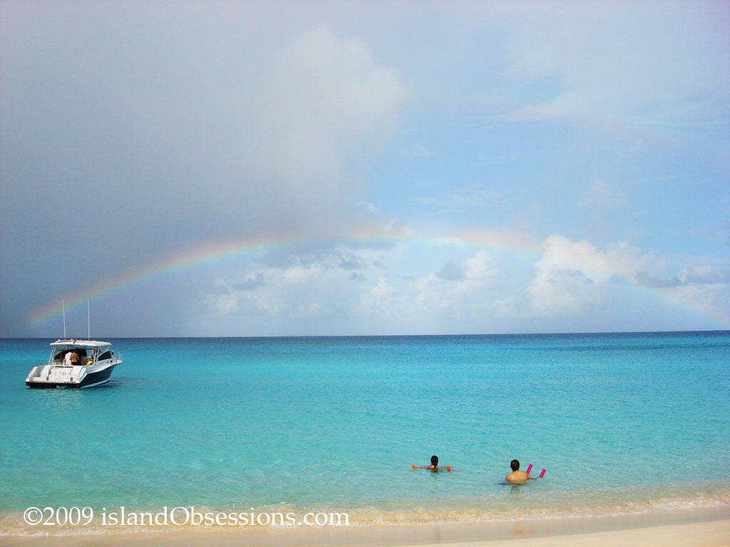 Rainbow over Meads Bay, Anguilla