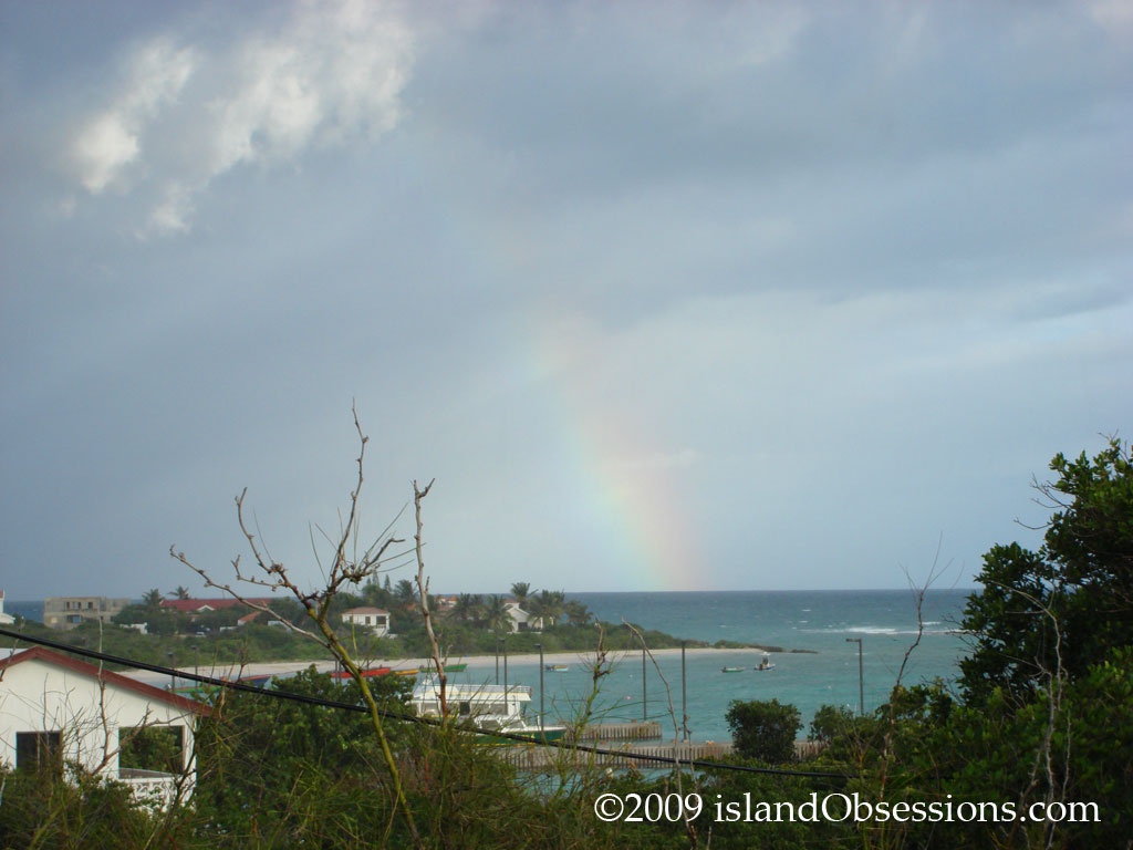 Rainbow over Blowing Point, Anguilla