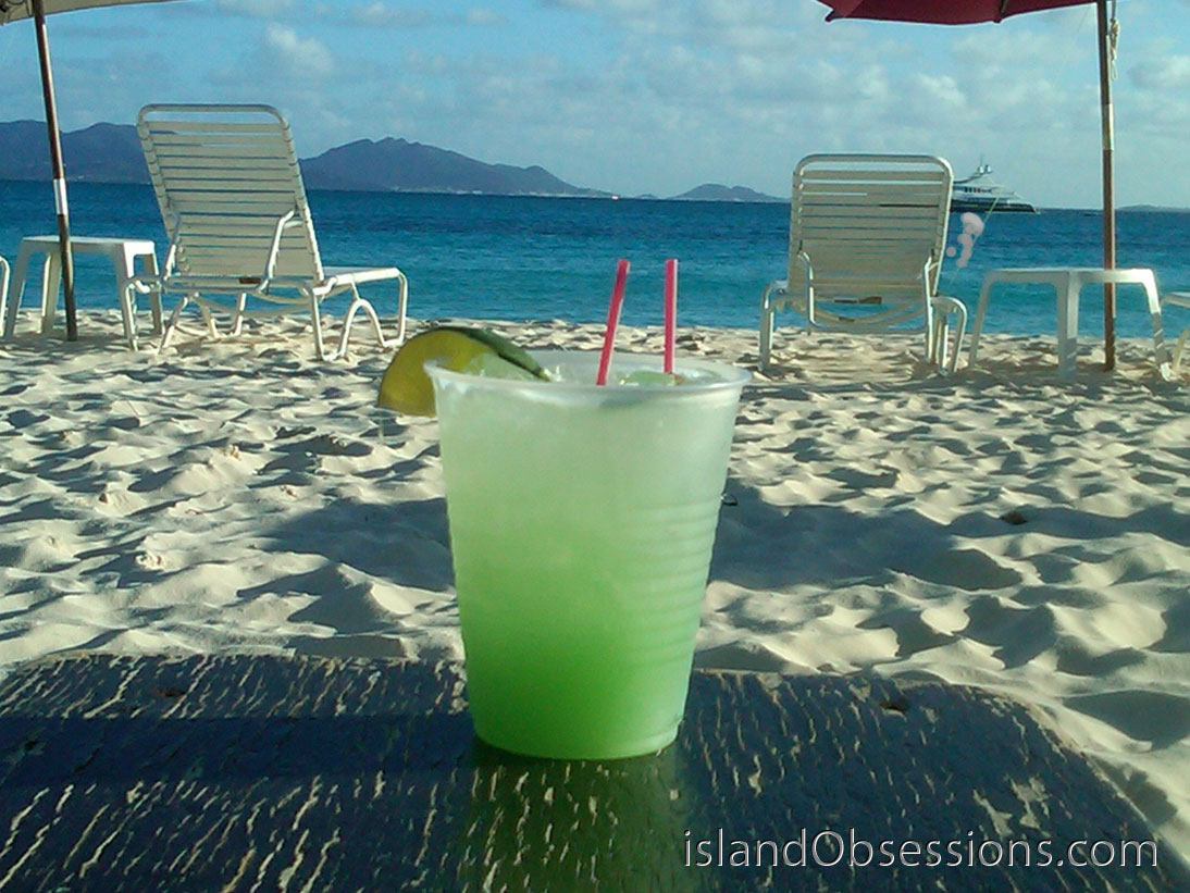 Pineapple Margarita at Sunshine Shack Anguilla