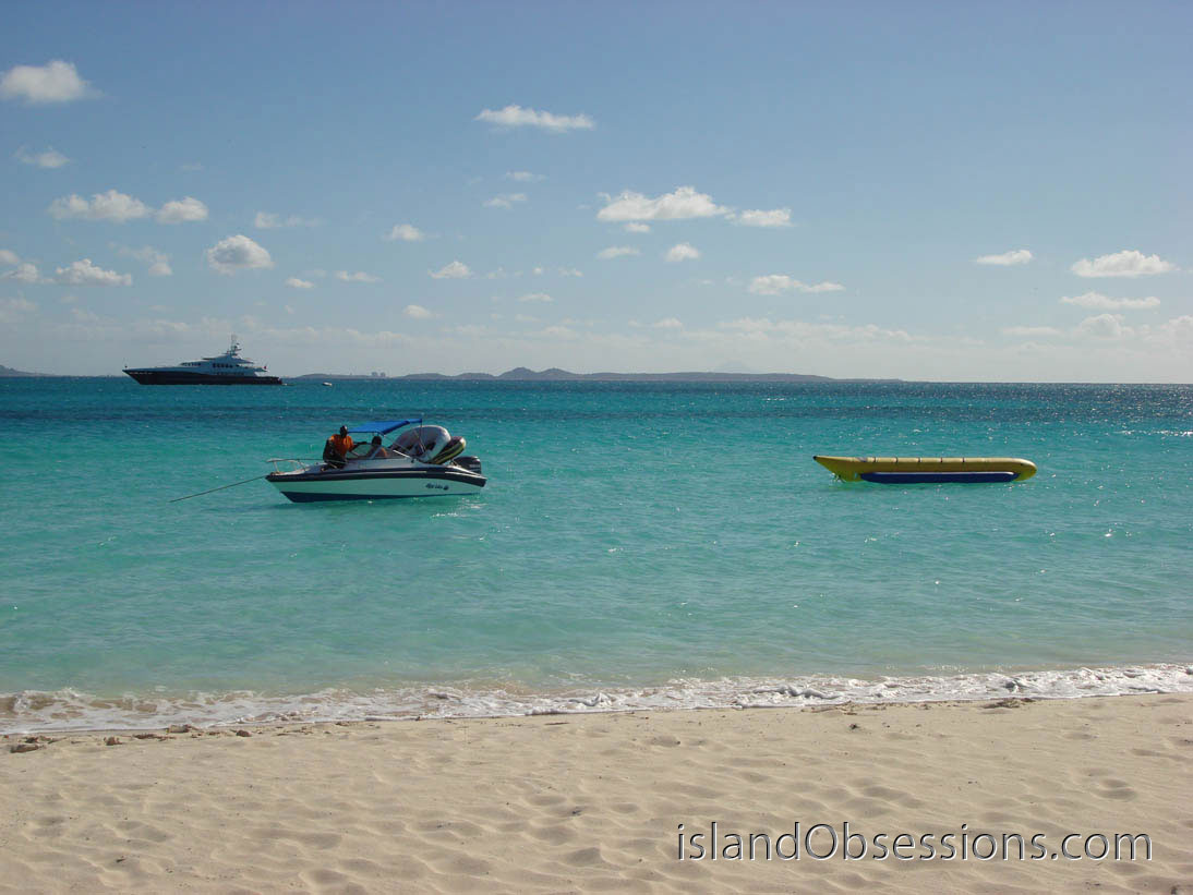 Banana boat ride at the Sunshine Shack Anguilla
