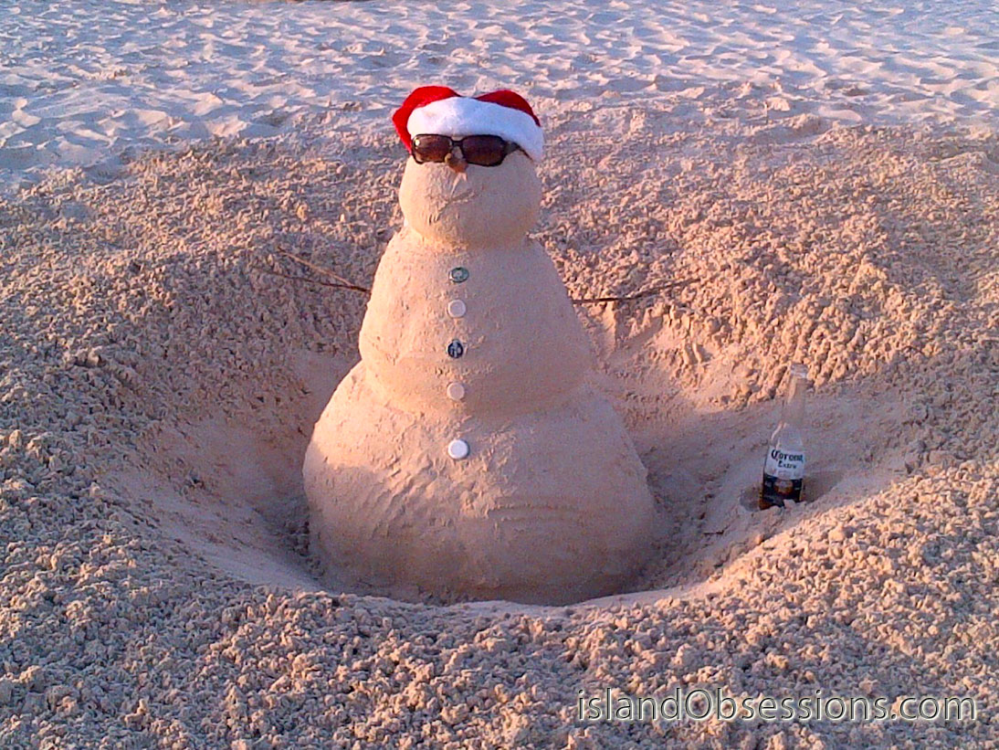 Sand Snowman v2 - he likes Corona